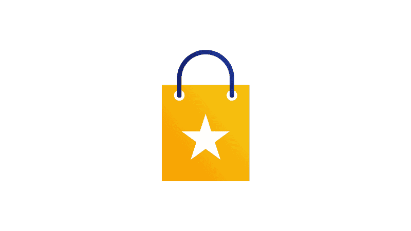 shopping star with a star mark